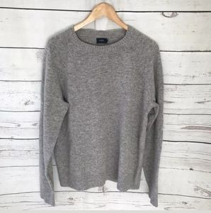 J CREW Sweater Mens Lambs Wool Grey Sweater - Sz M